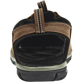 Keen Clearwater CNX Leather Sandały Mężczyźni, dark earth/black
